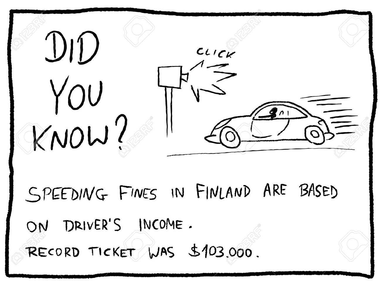 Fun fact trivia - useful doodle cartoon illustration usable as a webcomic or for funny section of a newspaper. - 44185377