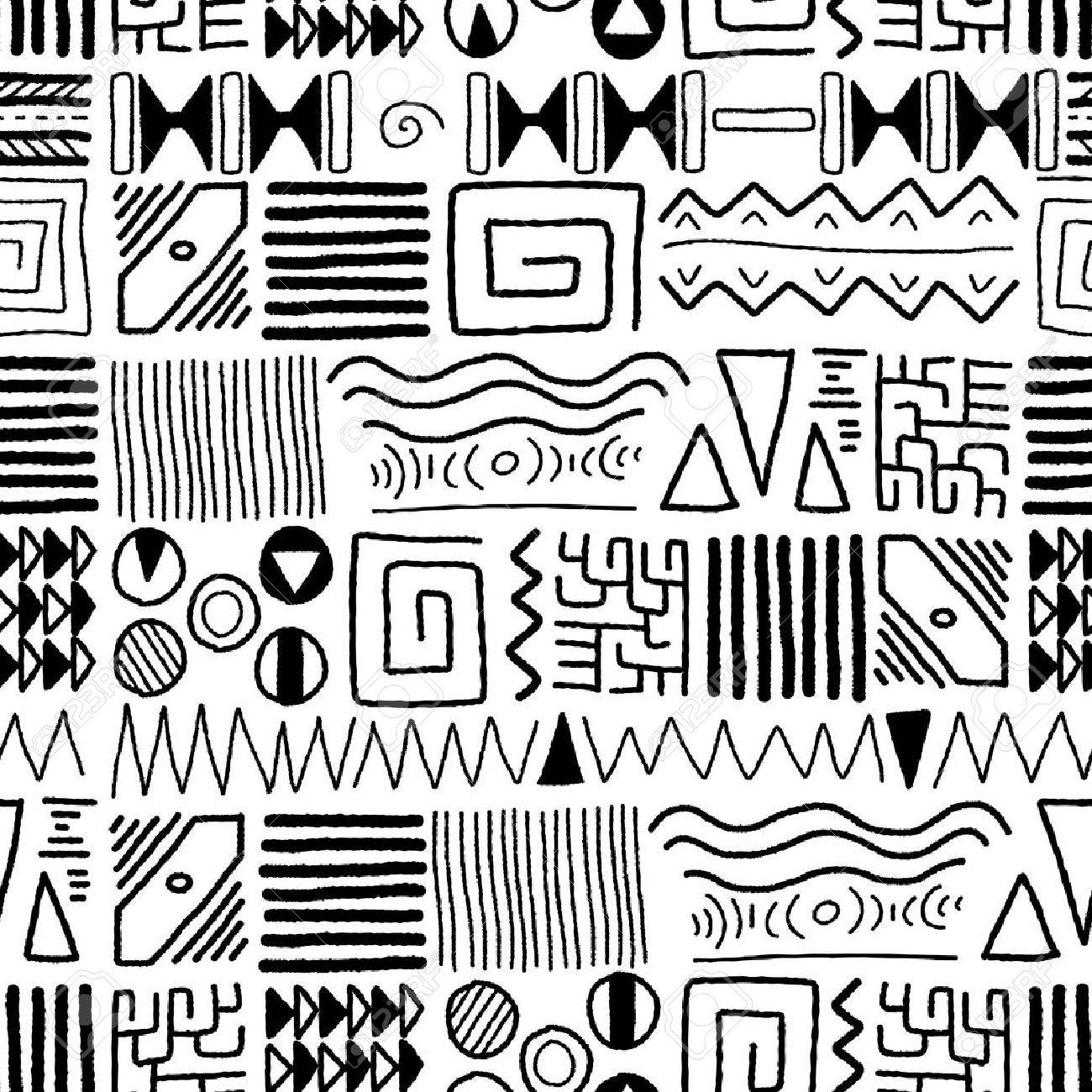 African ethnic pattern - indigenous art background. Africa style design. - 44185402