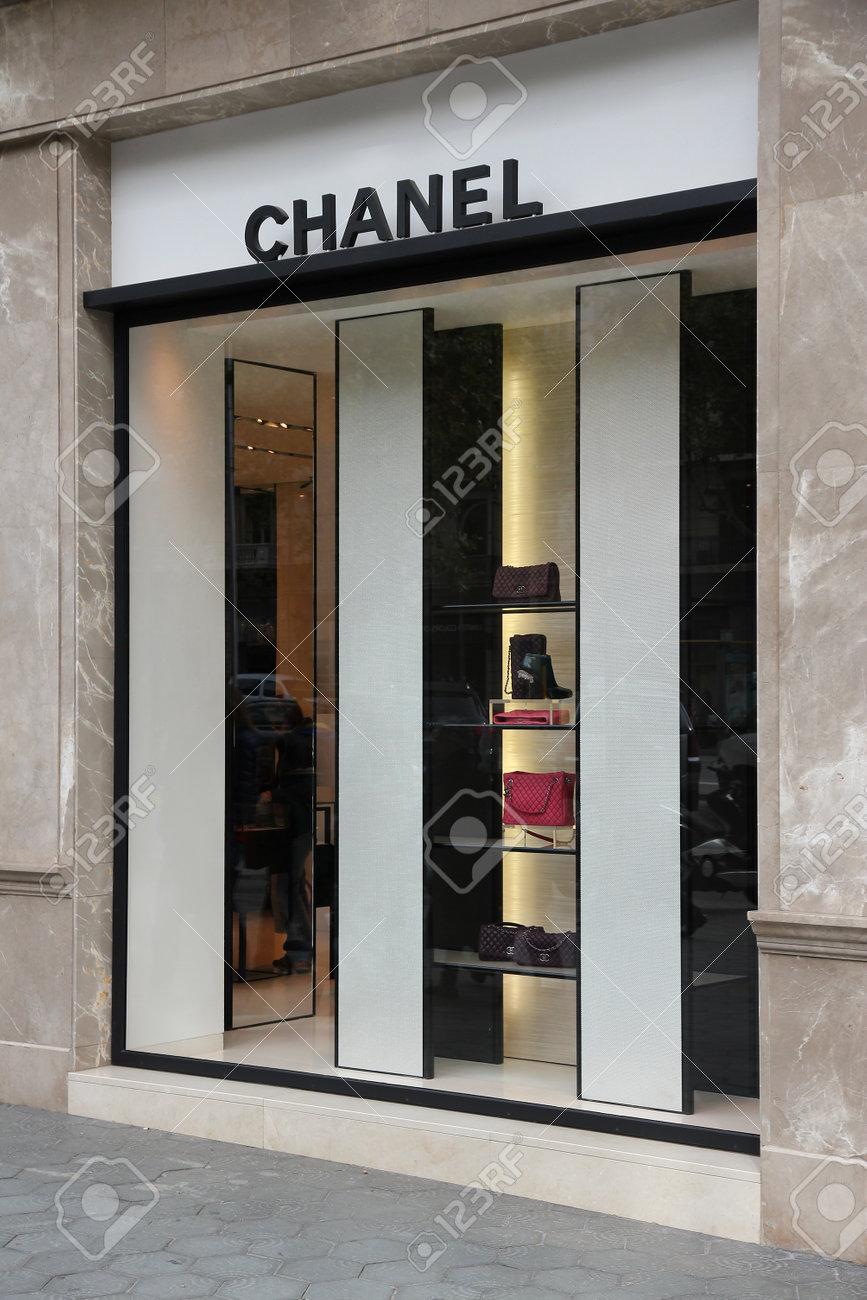121fe2d0c BARCELONA, SPAIN - NOVEMBER 6, 2012: Chanel store in Barcelona, Spain.