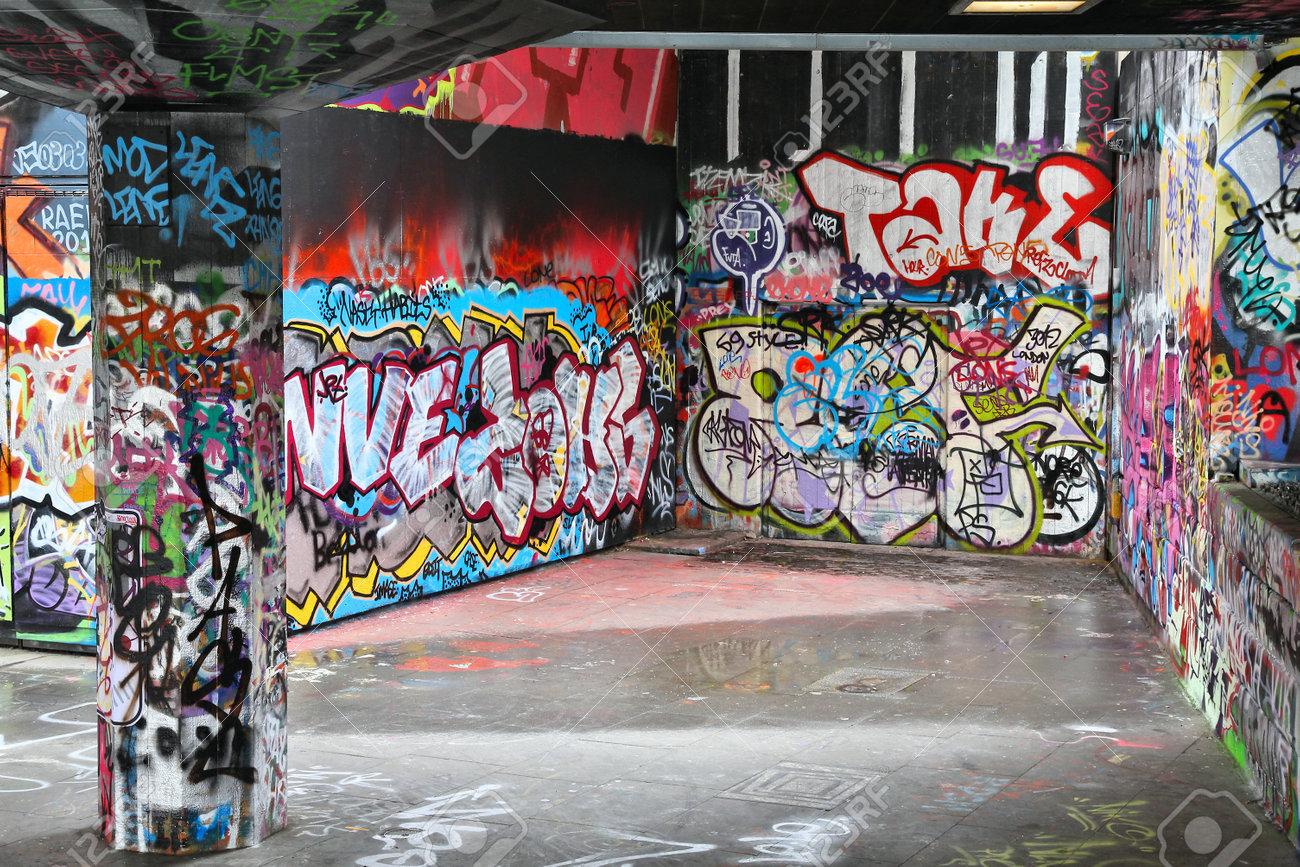 London Uk May 14 2012 Legal Graffiti Art In London Legal
