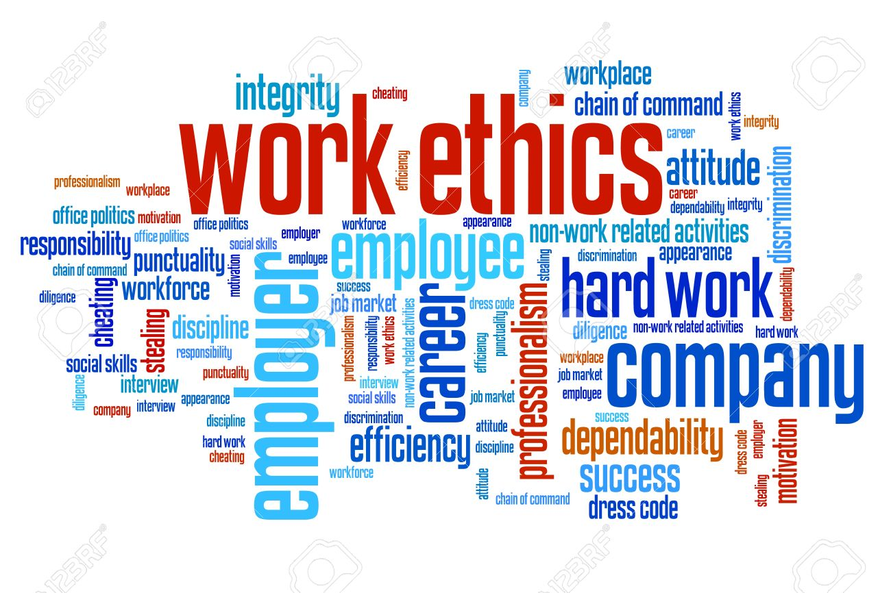 work ethics issues and concepts word cloud illustration word illustration work ethics issues and concepts word cloud illustration word collage concept