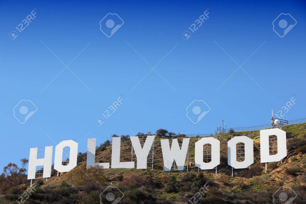 LOS ANGELES, USA - APRIL 5, 2014: Hollywood Sign in Los Angeles. The sign was originally created in 1923 and is a Los Angeles Historic-Cultural Monument. - 49431091