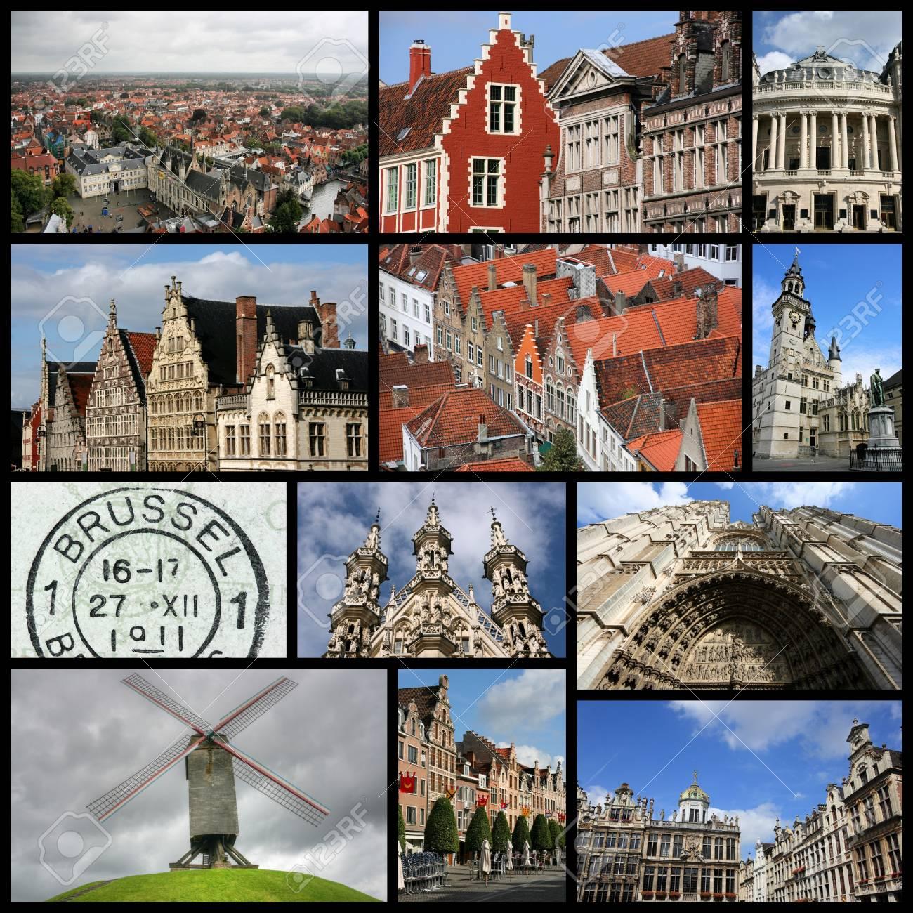 Bélgica Viaje De La Foto - Collage Colección De Imágenes Con ...