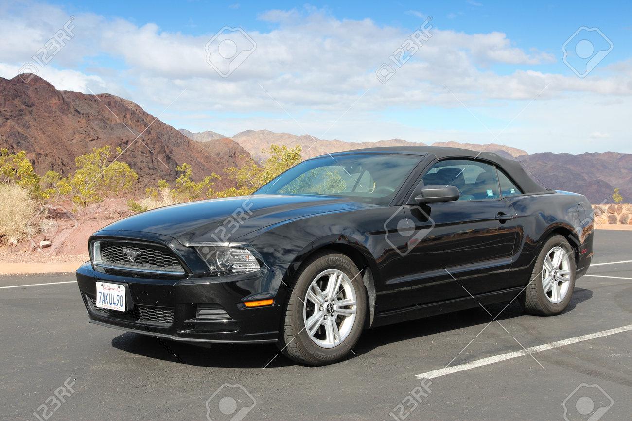 ARIZONA, USA - APRIL 2, 2014: Ford Mustang parked in Arizona,