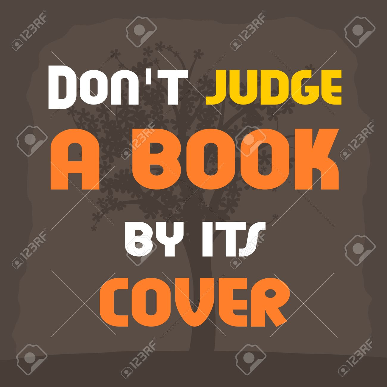 Vergeet Niet Een Boek Door Zijn Dekking Niet Te Beoordelen Motieven Affiche Met Inspirerend Citaat Filosofie En Wijsheid