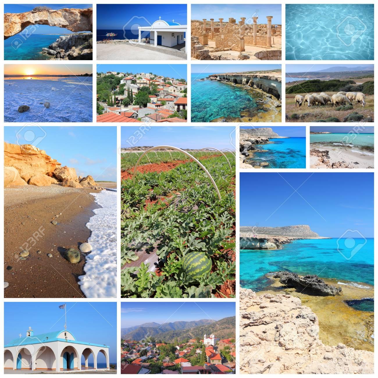 Collage De Fotos De Viaje De Chipre - Colección De Imágenes Con ...