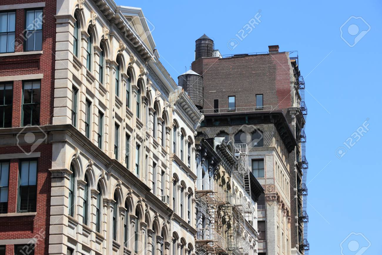 Soho Neighborhood In New York Old Architecture Stock Photo