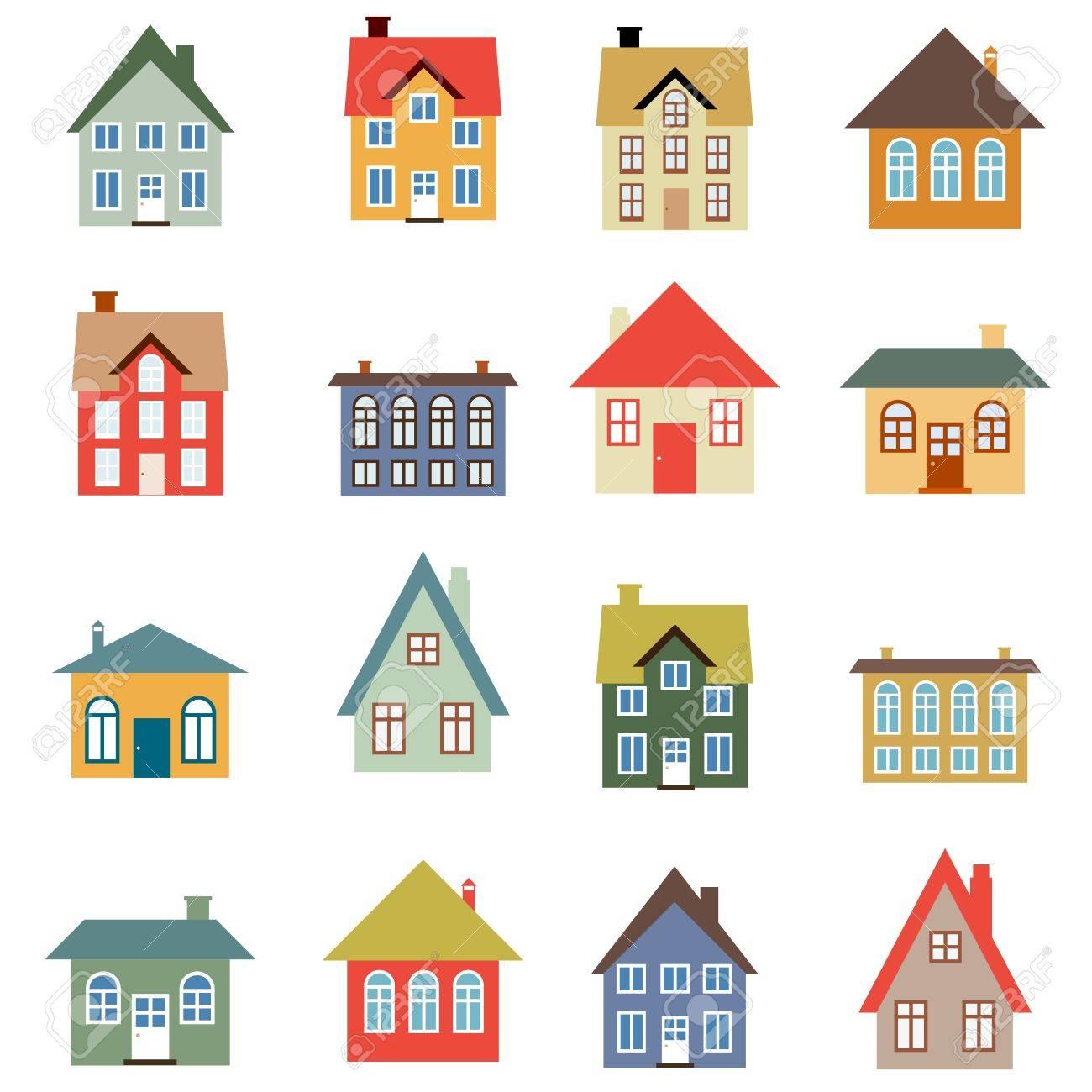 家ベクトルを設定 シンプルな家のイラスト コレクションですの