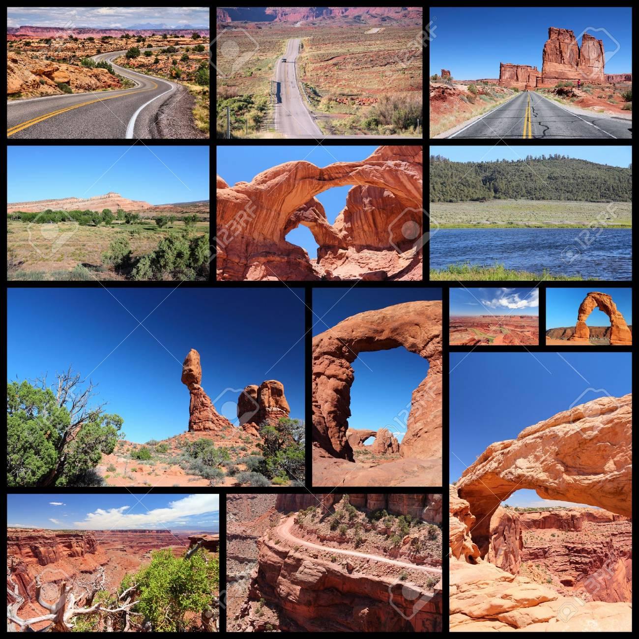 Collage De Fotos De Paisajes De Utah - Colección De Viajes Con ...