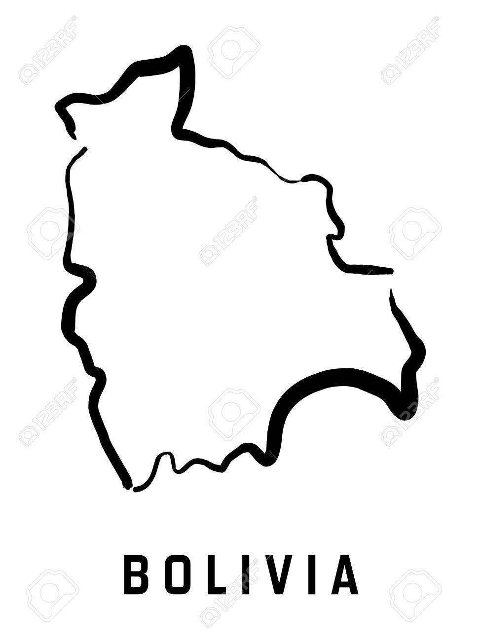 Picture of: Bolivia Map Outline Smooth Simplified Country Shape Map Vector Royalty Free Cliparts Vectors And Stock Illustration Image 75020869