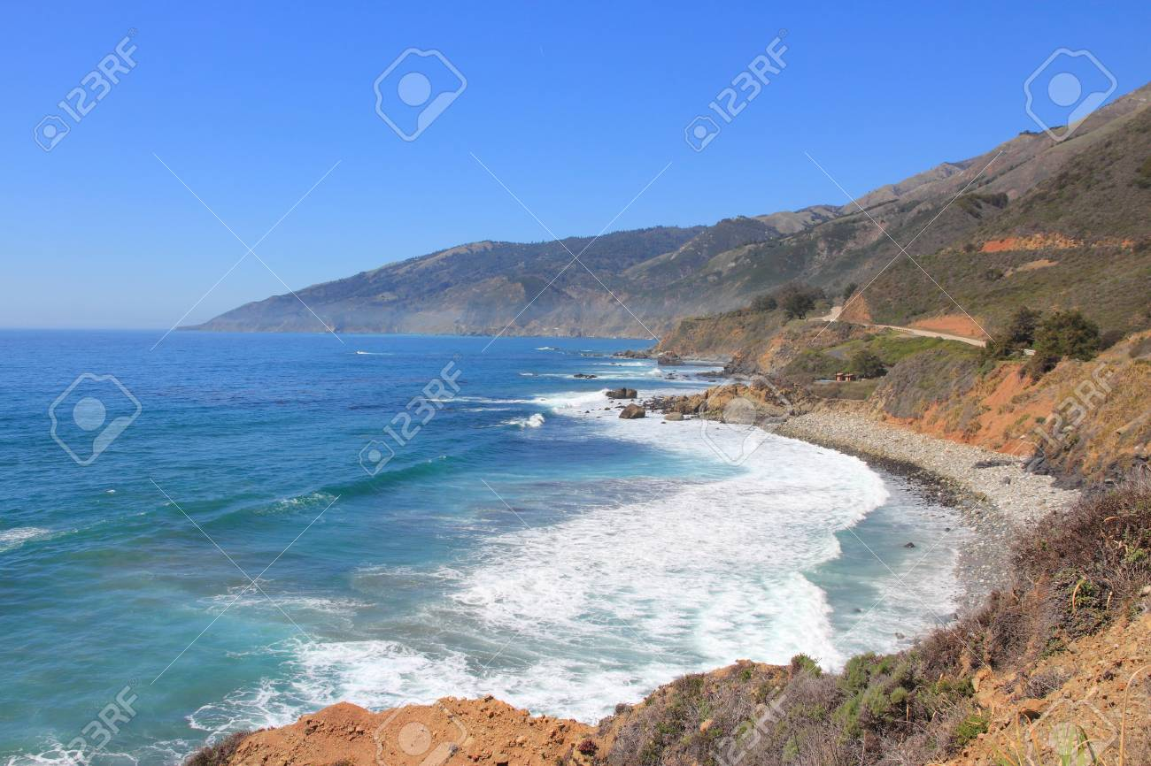 California landscape united states pacific coast at big sur california landscape united states pacific coast at big sur region stock photo publicscrutiny Image collections