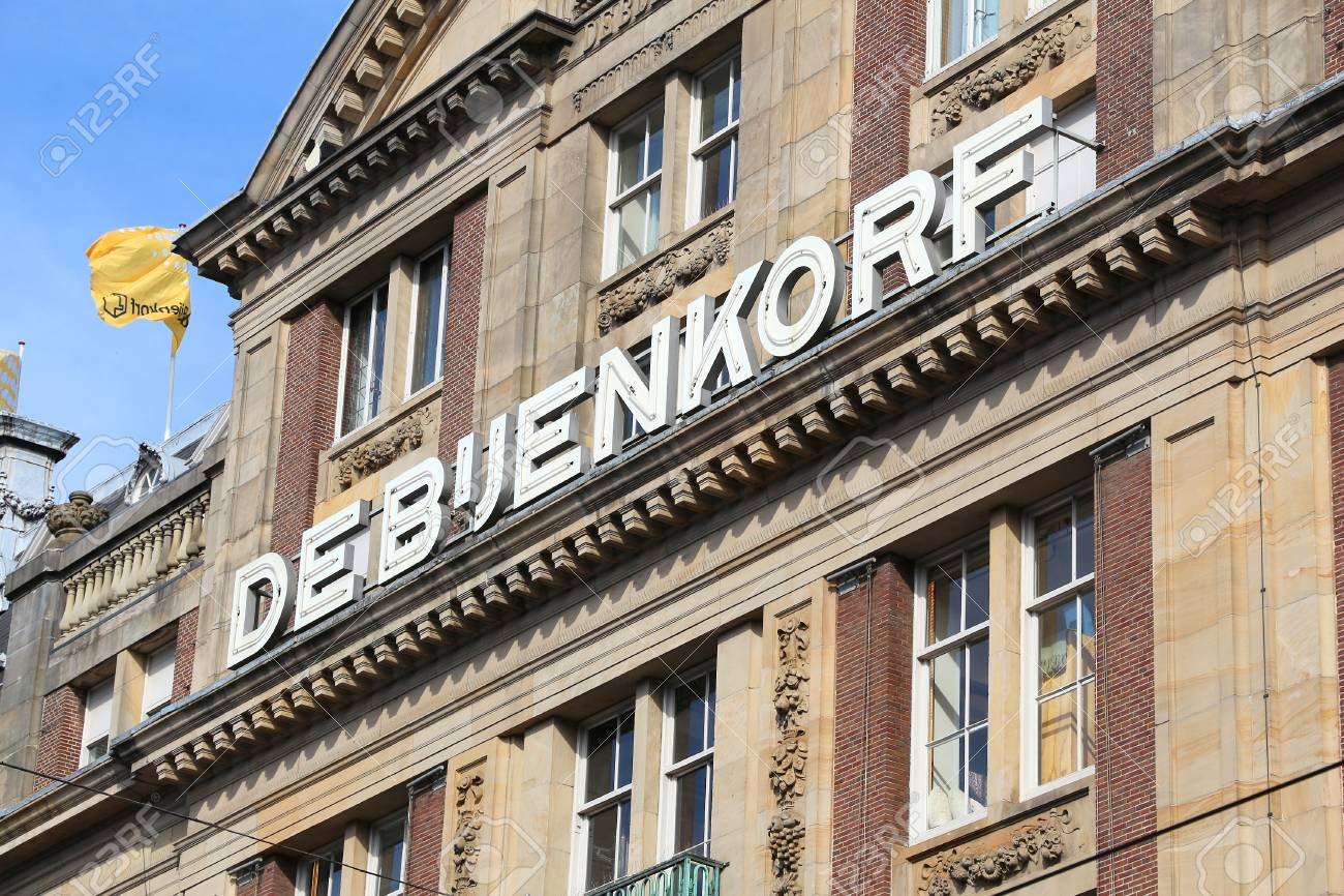 AMSTERDAM, NETHERLANDS - JULY 9, 2017: De Bijenkorf flagship