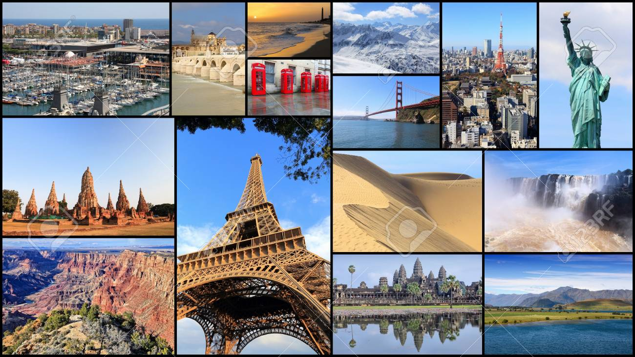 Collection Of World Travel Destinations Photo Collage With Stock Photo Picture And Royalty Free Image Image 82448578