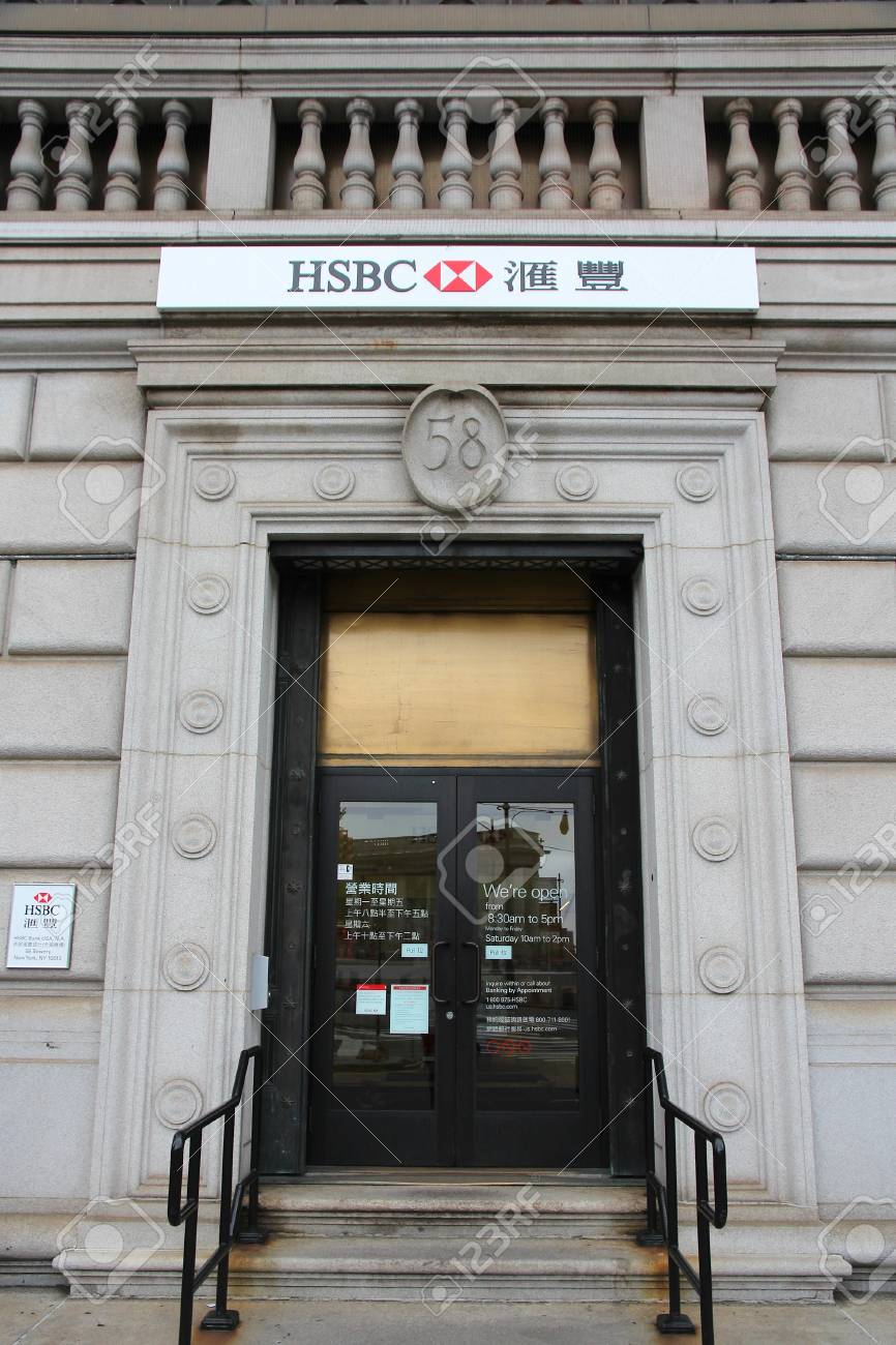 NEW YORK, USA - JULY 1, 2013: HSBC Bank In Chinatown, New York