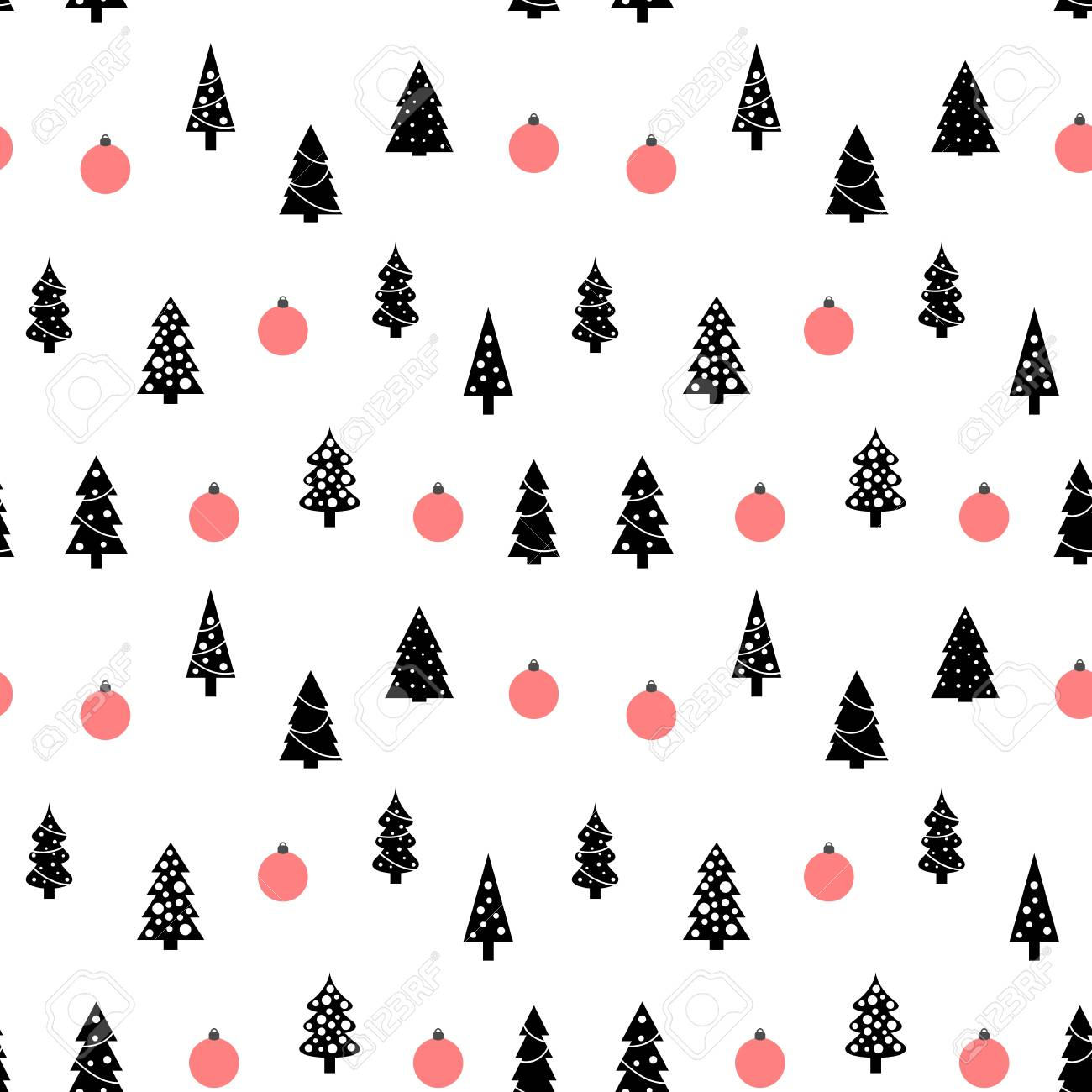 Christmas Tree Pattern.Christmas Pattern Seamless Background Texture Christmas Tree