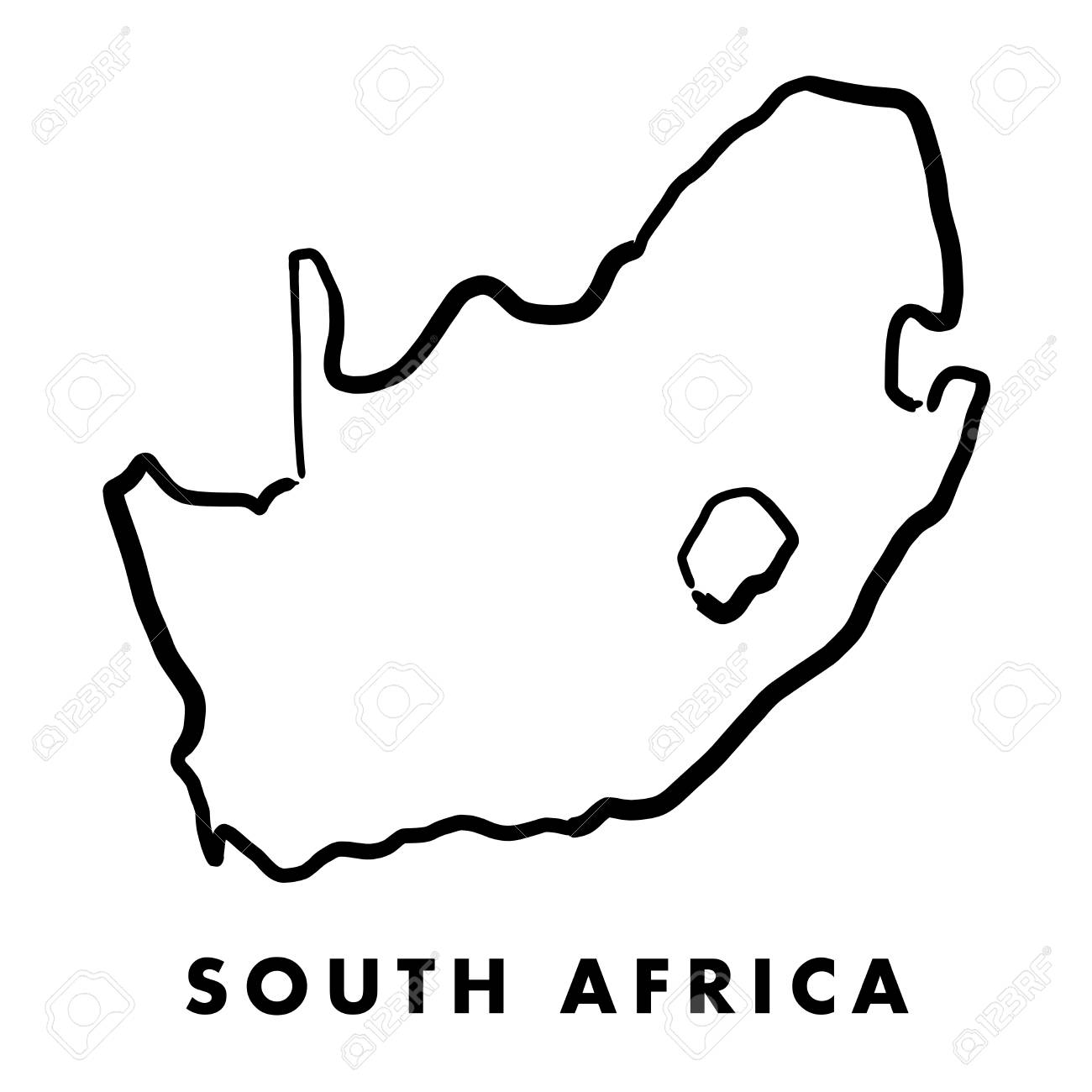 Picture of: South Africa Simple Map Outline Smooth Simplified Country Shape Royalty Free Cliparts Vectors And Stock Illustration Image 89179521