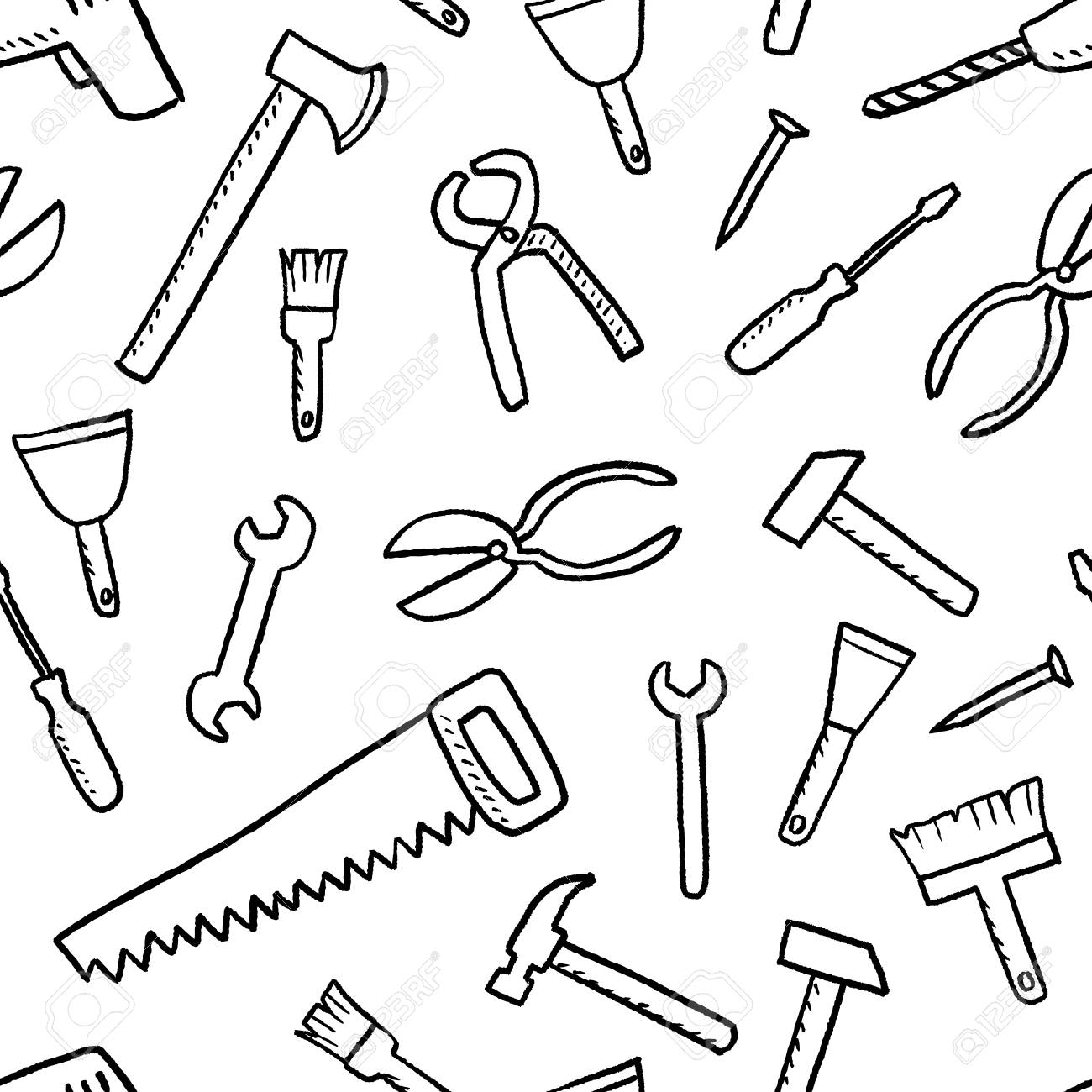 Tools Texture Seamless Background Diy And Woodworking Tools