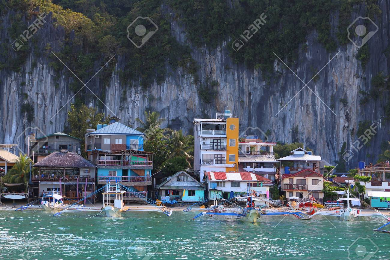 Town Of El Nido Palawan Island Philippines