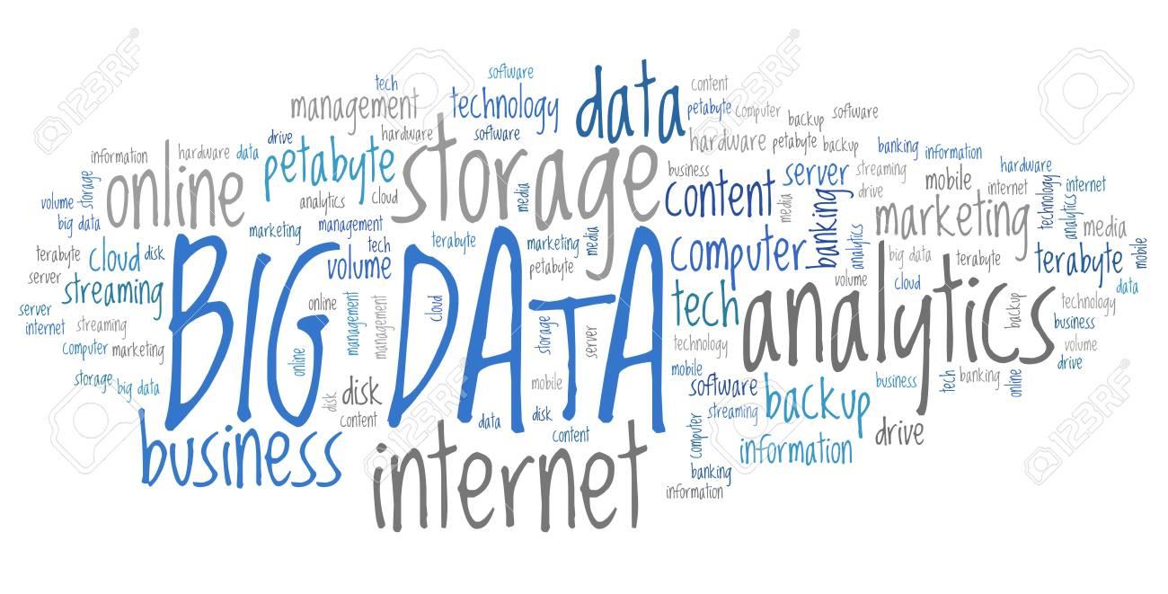 Big data - market information analytics concept  Word cloud