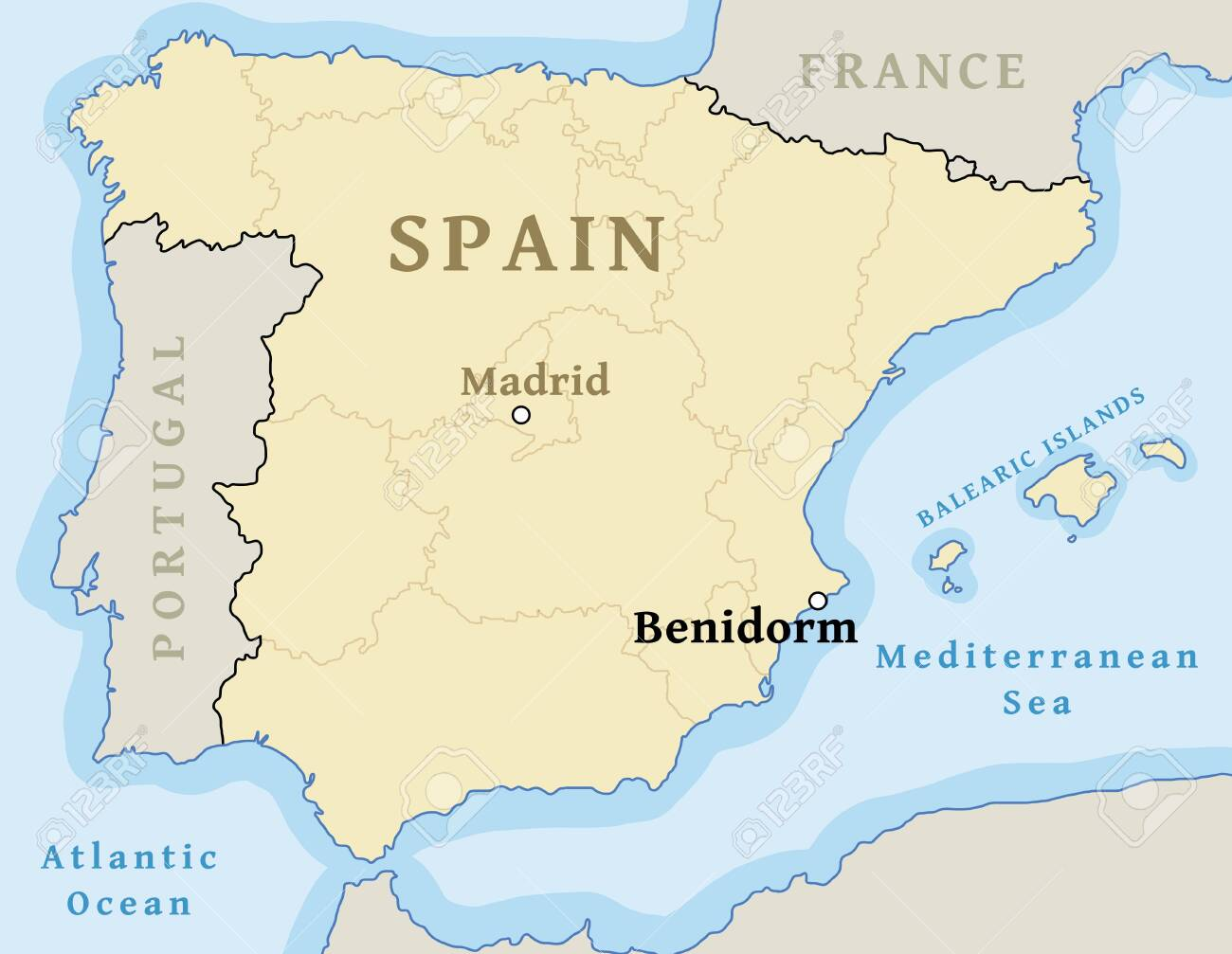 Map Of Spain Benidorm.Benidorm Map Location Locate City On Map Of Spain For News
