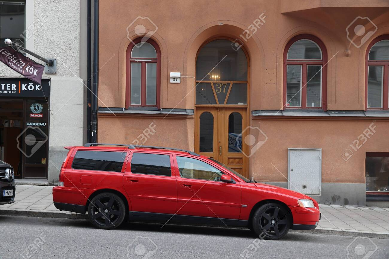 Stockholm Sweden August 24 2018 Red Volvo V70 Station Wagon Stock Photo Picture And Royalty Free Image Image 128309888