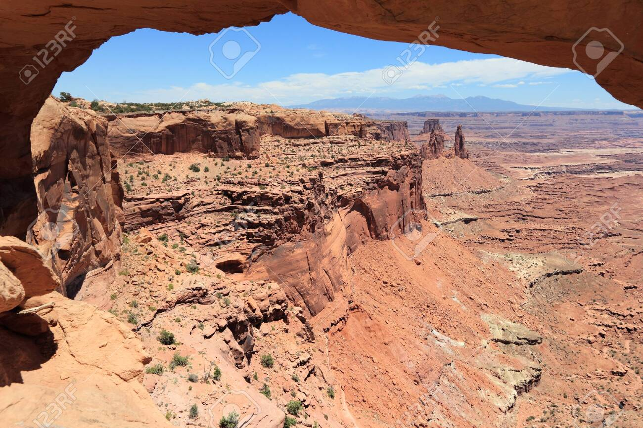 American landscape. Mesa Arch in Canyonlands National Park in Utah, USA. - 131425521