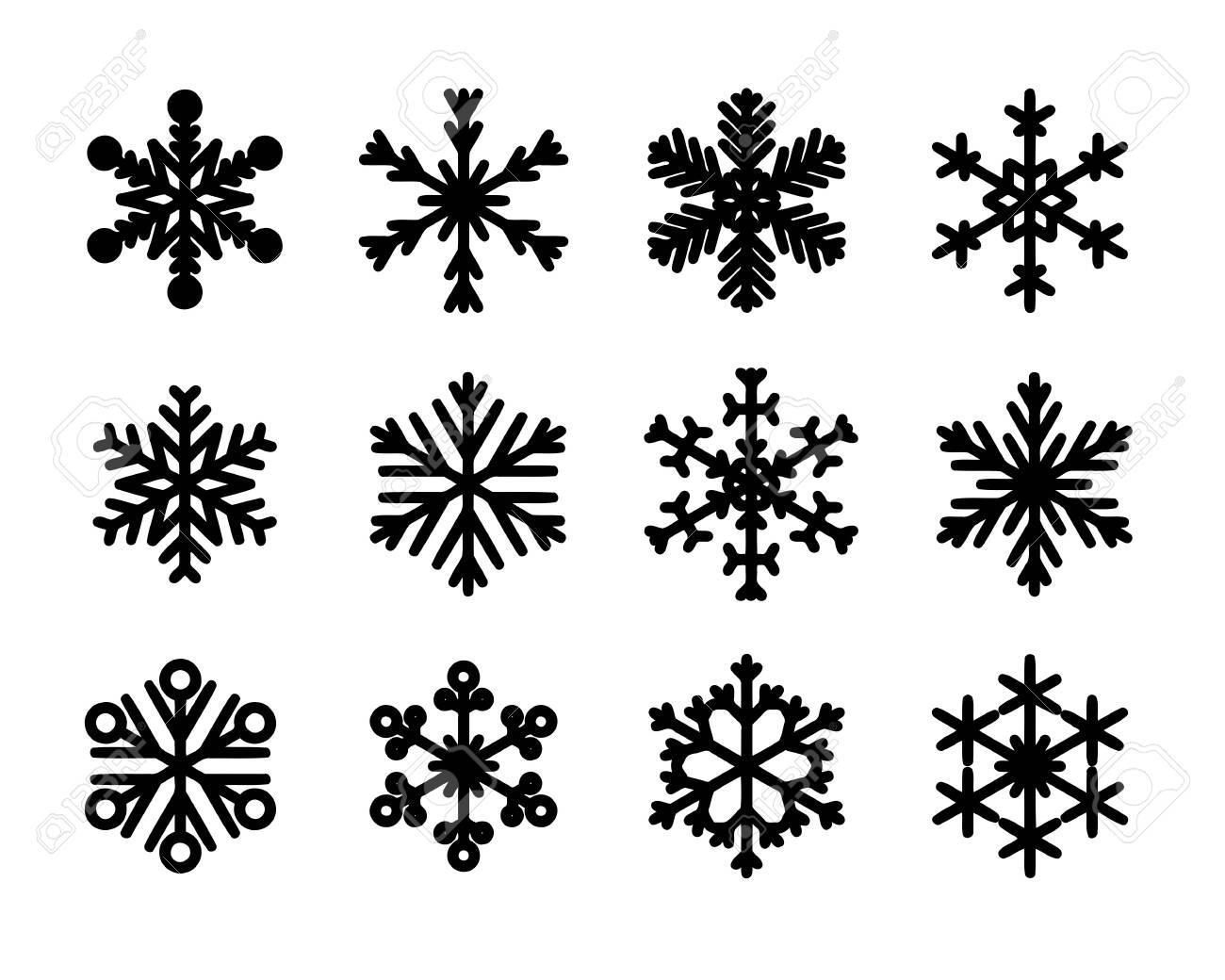 Vector isolated snowflakes. Christmas snow flake icon set. - 135779714