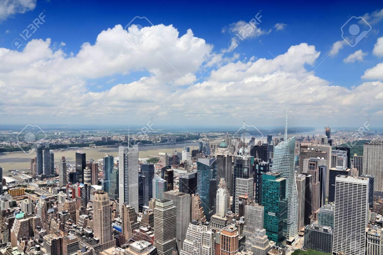 New York aerial view - Midtown Manhattan cityscape. - 140879241