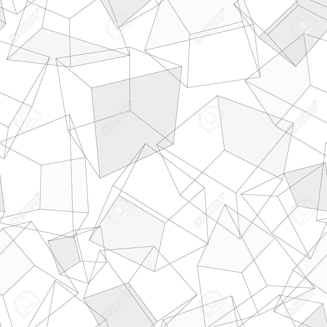 3D geometric background. Seamless pattern. Vector. - 50761365
