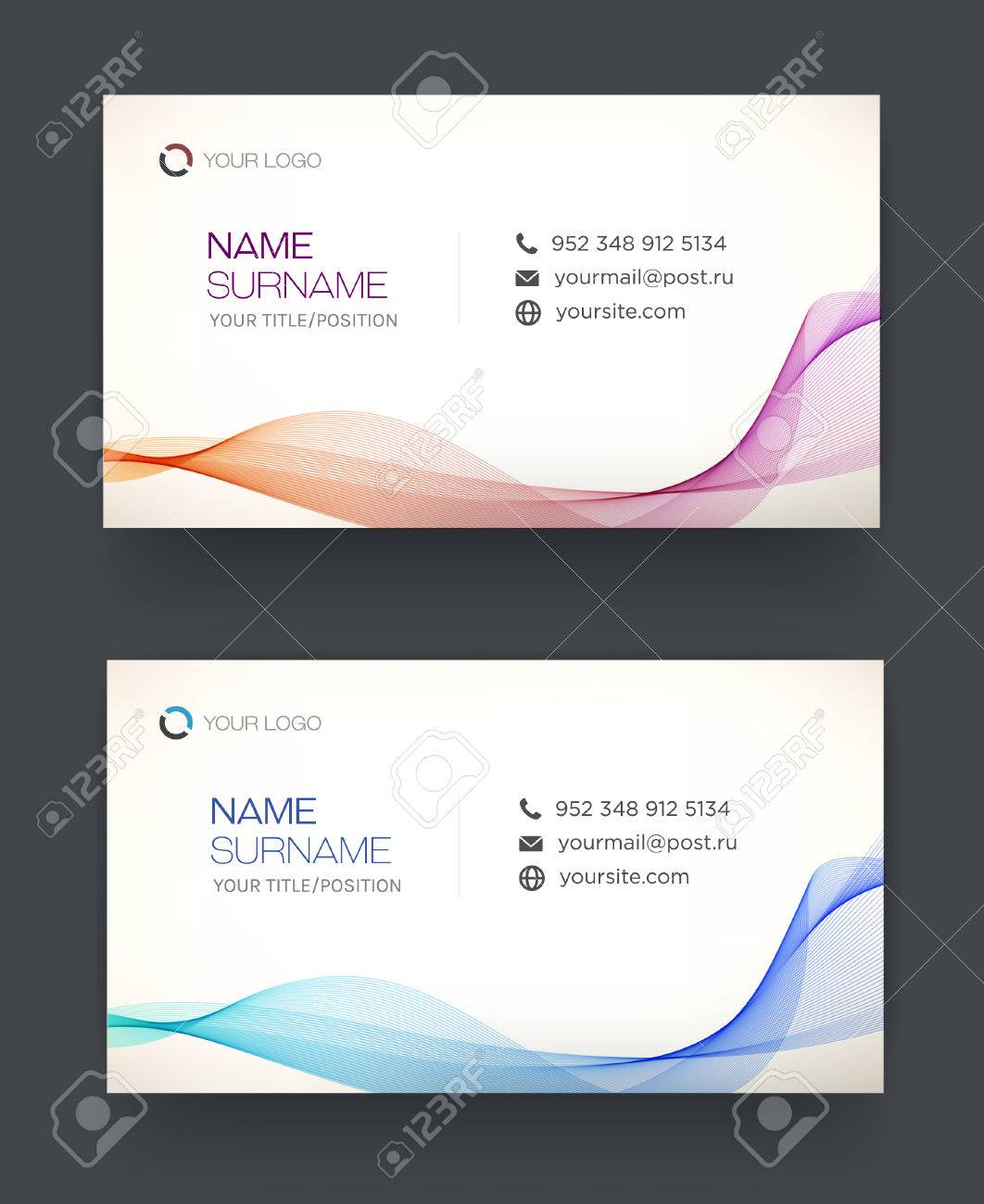 Business card template blue pattern vector design editable business card template blue pattern vector design editable personal card stock vector friedricerecipe Images