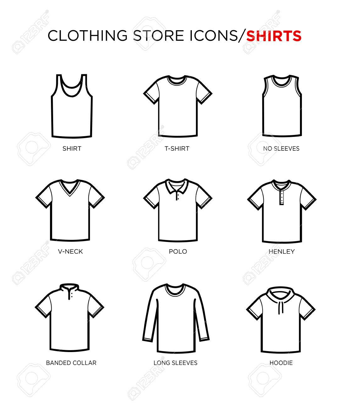 t shirt icon set clothing store different styles royalty free cliparts vectors and stock illustration image 56648424 t shirt icon set clothing store different styles