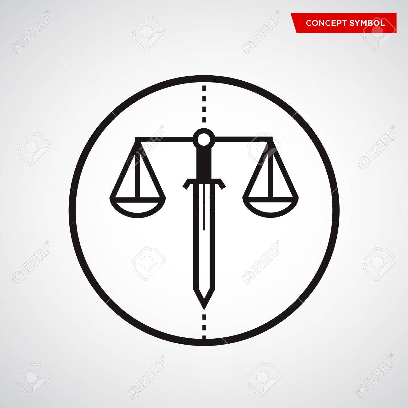 Scale Of Justice Symbol Concept Icon Law Scales Royalty Free