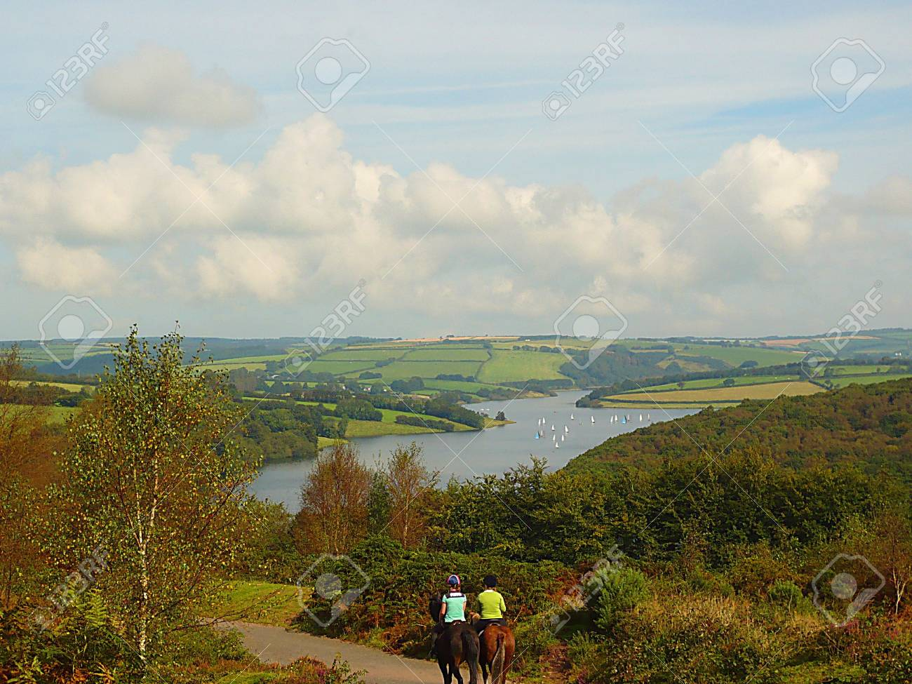 Wimbleball Lake, Exmoor, South West England Stock Photo - 3854396