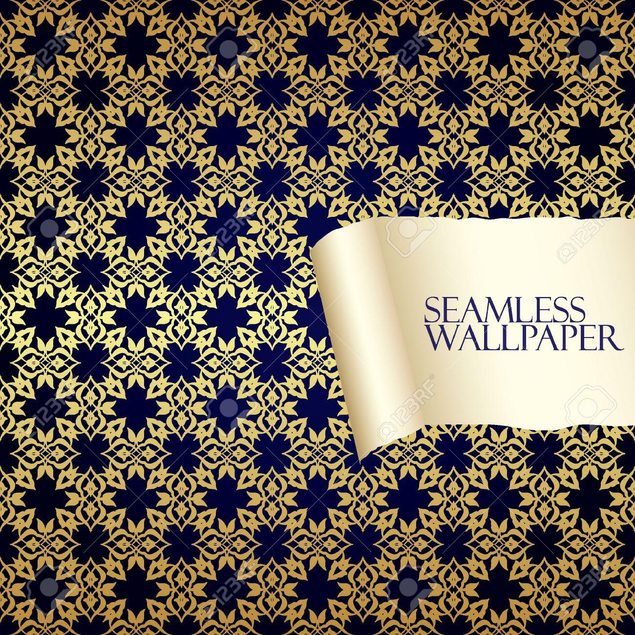 Seamless Orientalisk Tapet Royalty-Fri Clipart, Vektorer Och ...