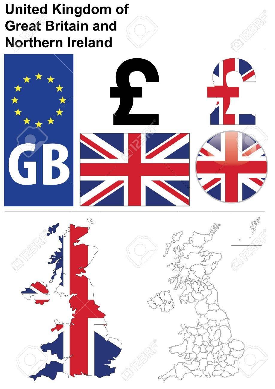 United kingdom collection including flag plate map united kingdom collection including flag plate map administrative division symbol buycottarizona Gallery