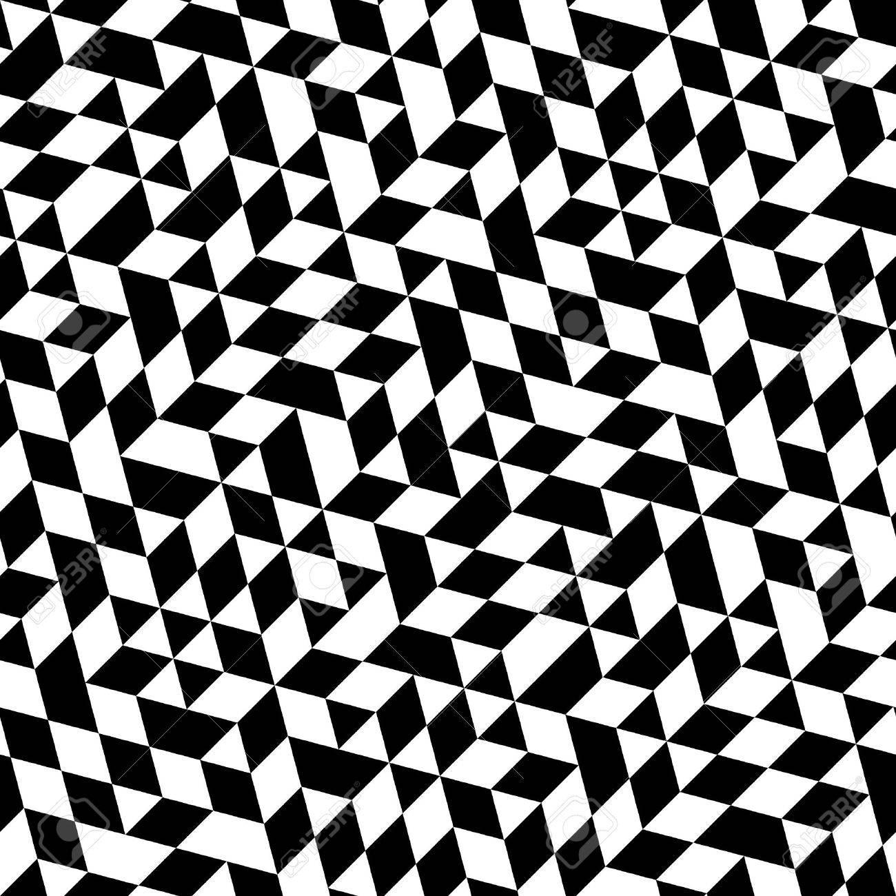 Geometric vector pattern with triangular elements  Seamless abstract