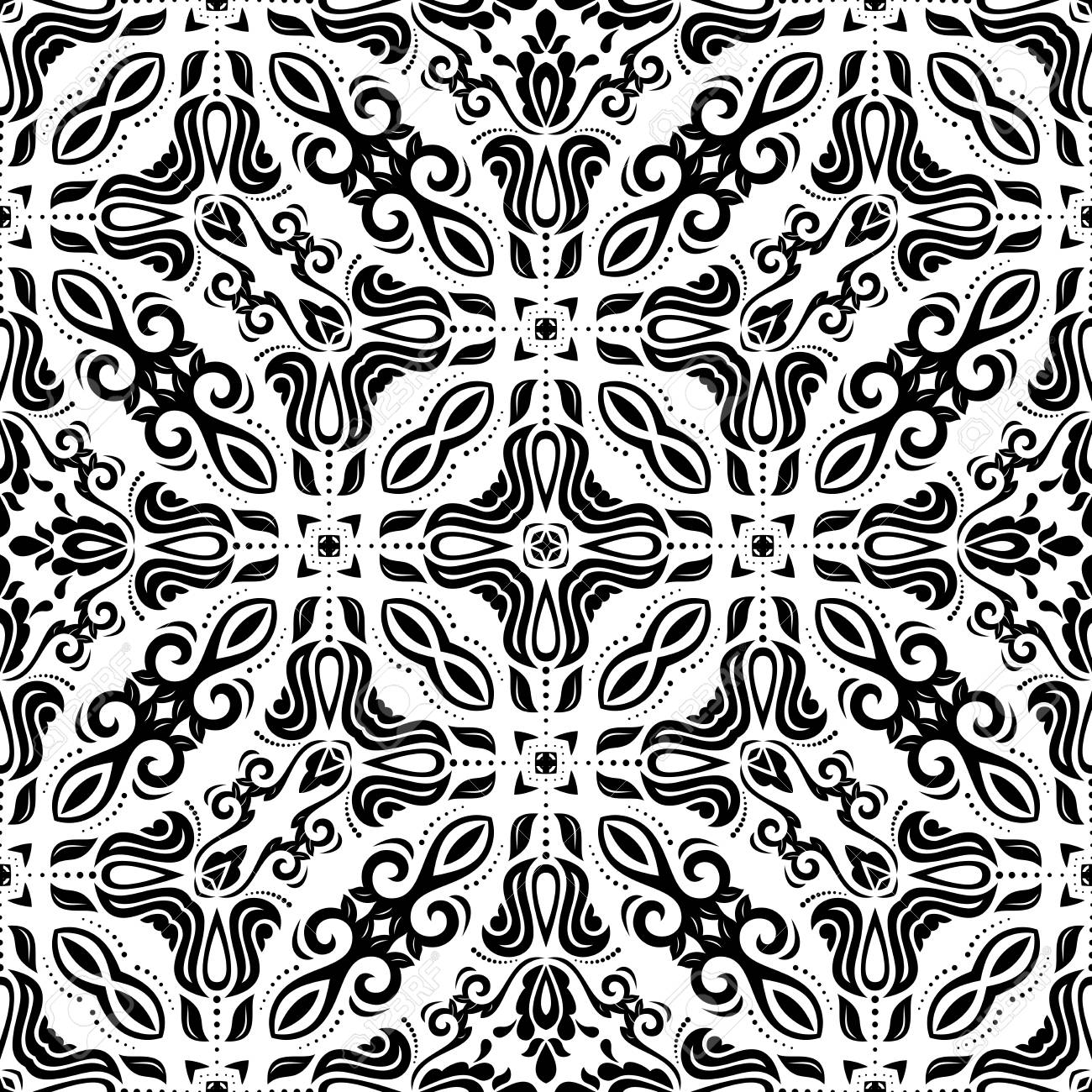 Banque Du0027images   Motif Géométrique. Seamless Vecteur. Abstract Texture  Pour Les Papiers Peints. Couleurs Noir Et Blanc