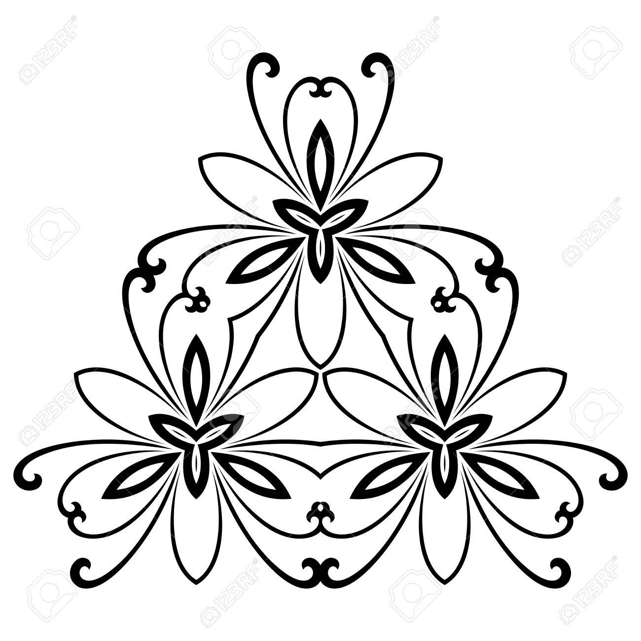 damask vector floral pattern with arabesque and oriental elements rh 123rf com vector floral pattern background vector floral pattern stencil