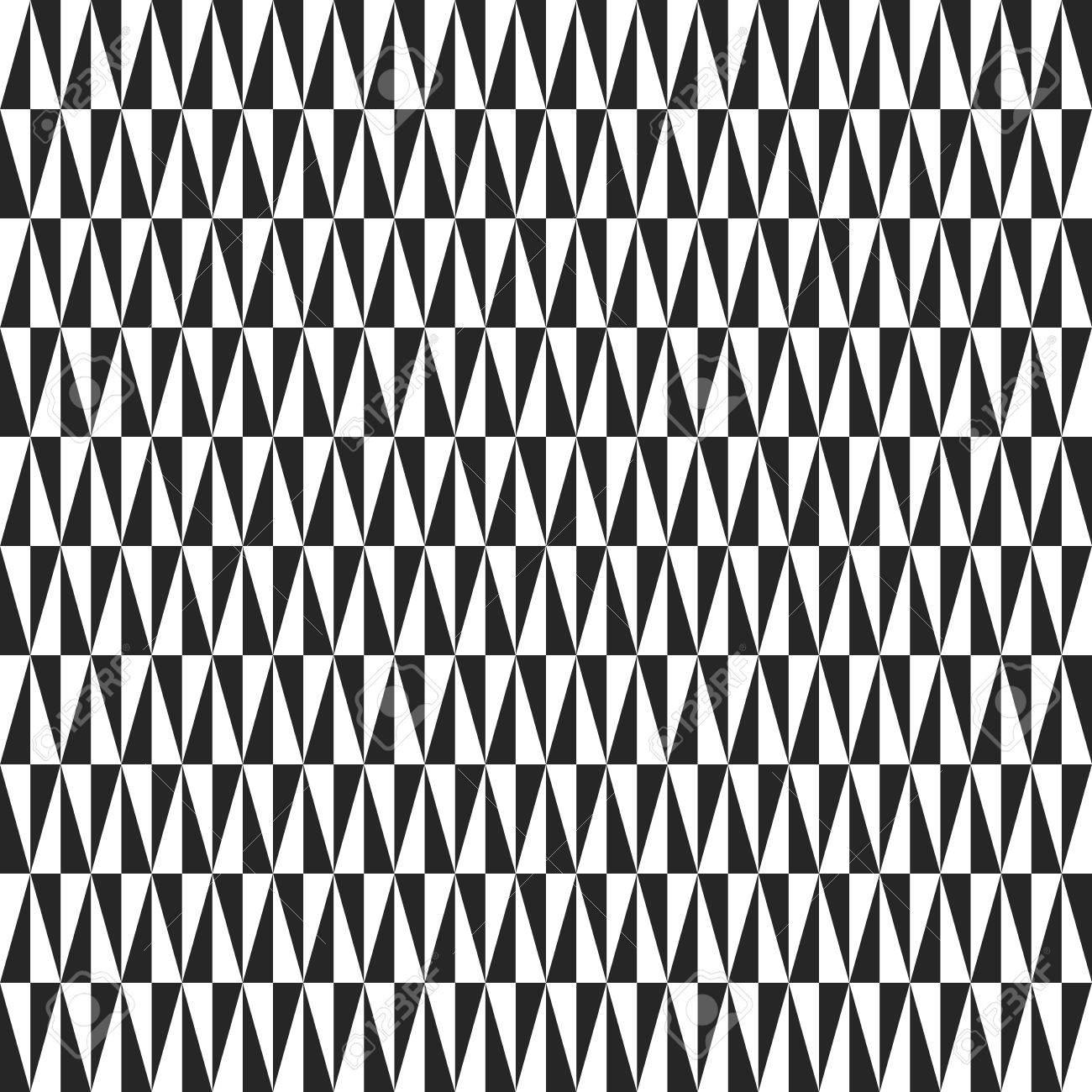 Geometrische Vektor Muster Mit Dreiecken. Nahtlose Zusammenfassung Textur  Für Tapeten Und Hintergründe. Schwarz