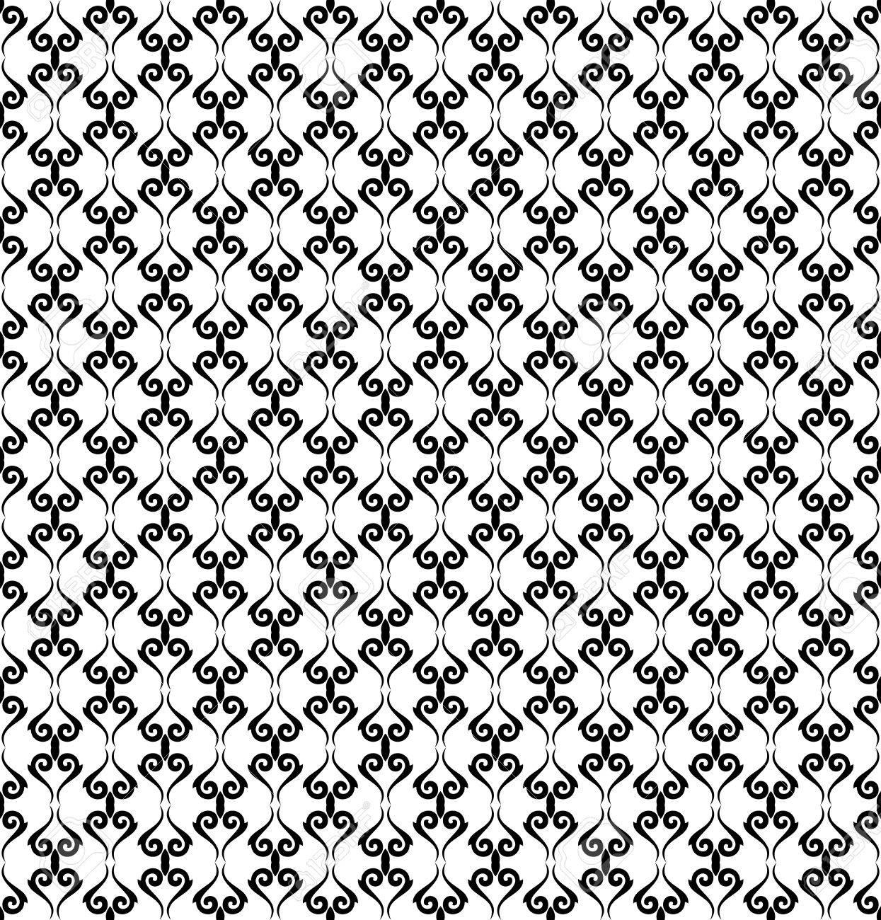 Banque Du0027images   Motif Géométrique. Seamless Background. Abstract Texture  Pour Les Papiers Peints. Couleurs Noir Et Blanc