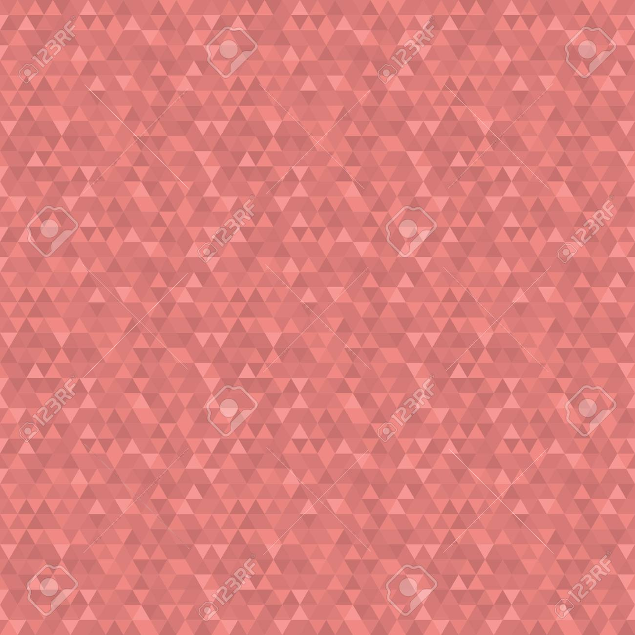 Geometric Texture With Dark And Light Red Triangles Seamless Abstract Background For Wallpapers Stock Photo