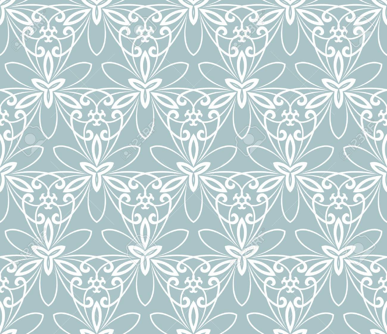 Floral  ornament. Seamless abstract classic blue and white pattern Stock Photo - 45567820