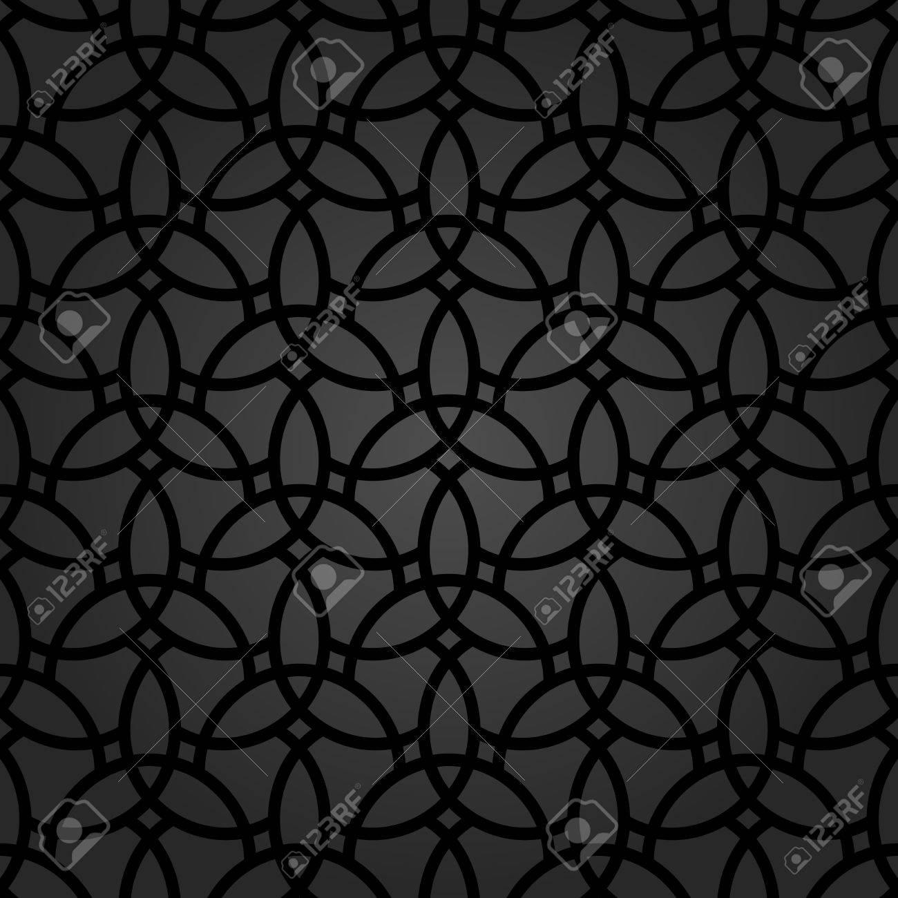 東洋の要素を持つ細かい幾何学模様 壁紙や背景のシームレスな細かい