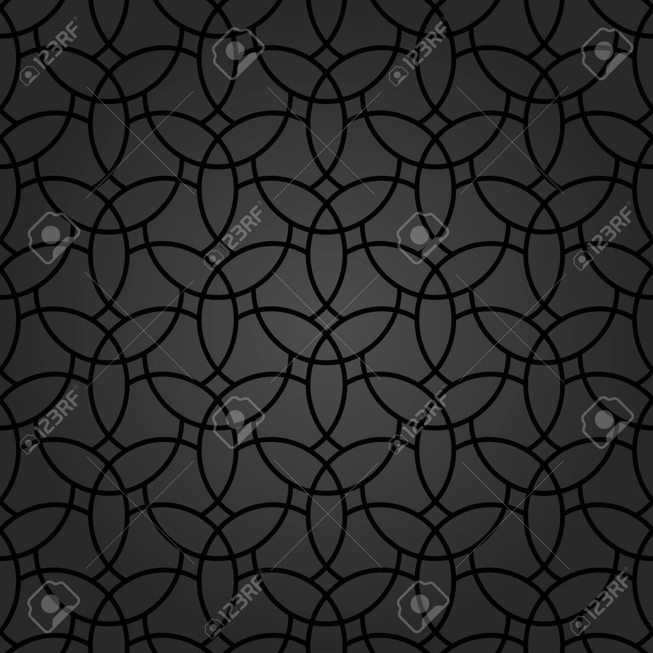 オリエンタル ブラック要素で細かい幾何学模様 壁紙や背景の