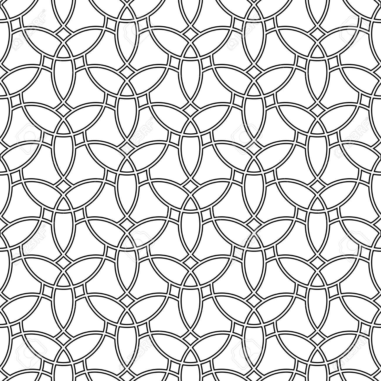 Motif Geometrique Fine Avec Des Elements Orientaux Grill Seamless