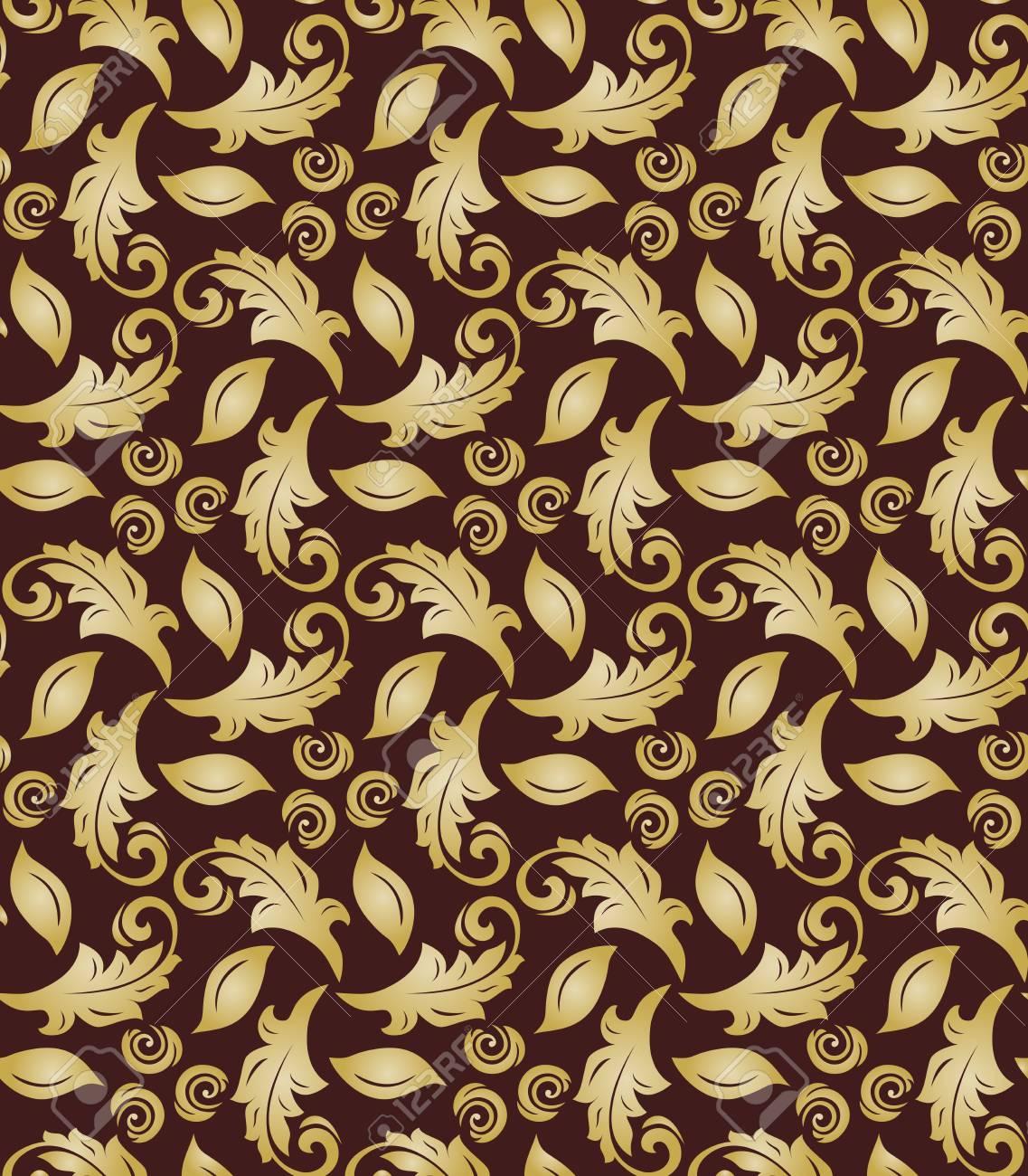 Catalogo Carta Da Parati Classica carta da parati classica orientale. sfondo astratto senza soluzione di  continuità. ornamento marrone e dorato