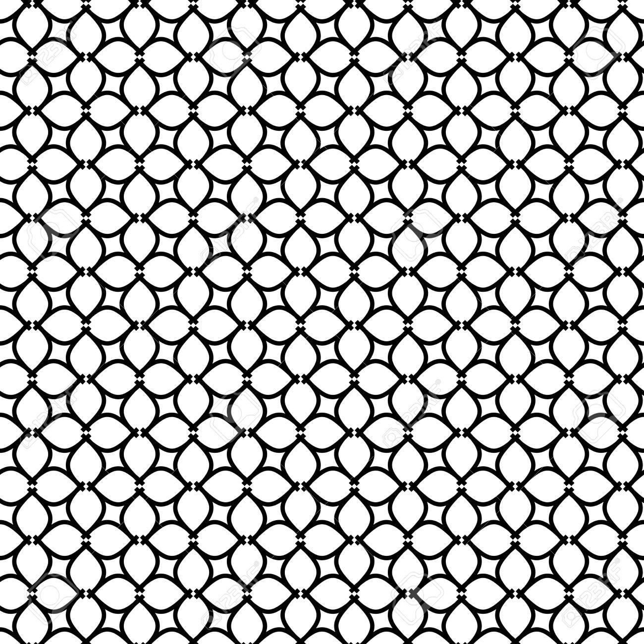 nahtlose licht ornament im arabischen stil schwarz wei muster fr tapeten und hintergrnde - Tapete Schwarz Wei Muster