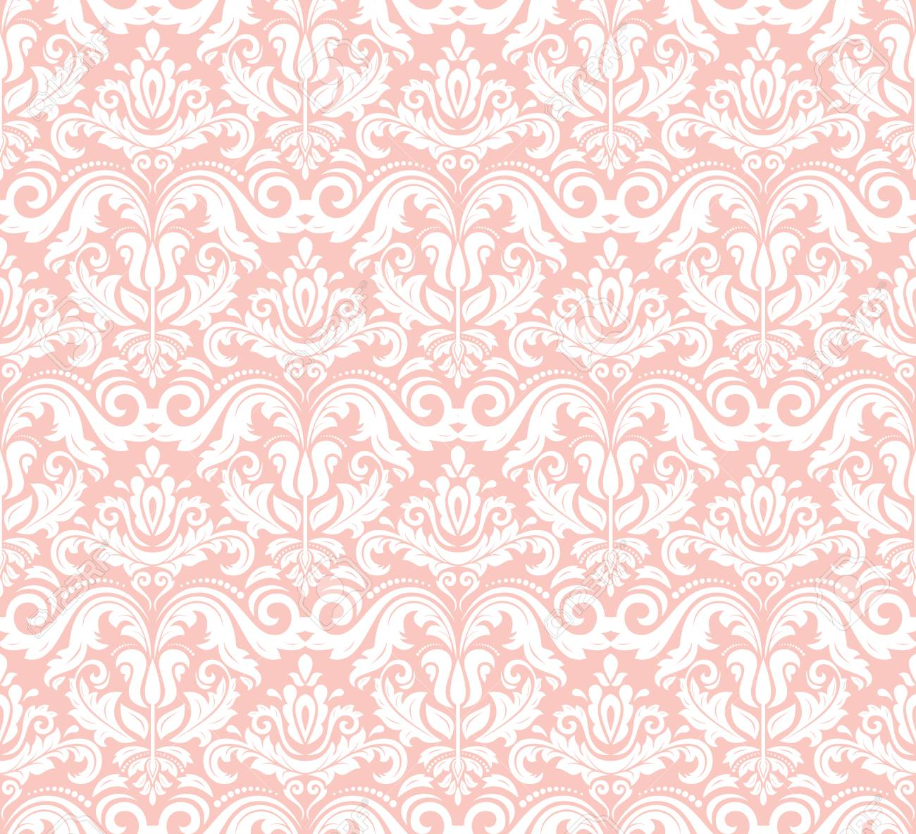 Pink Pattern With Natural Flowers Of Rose 4