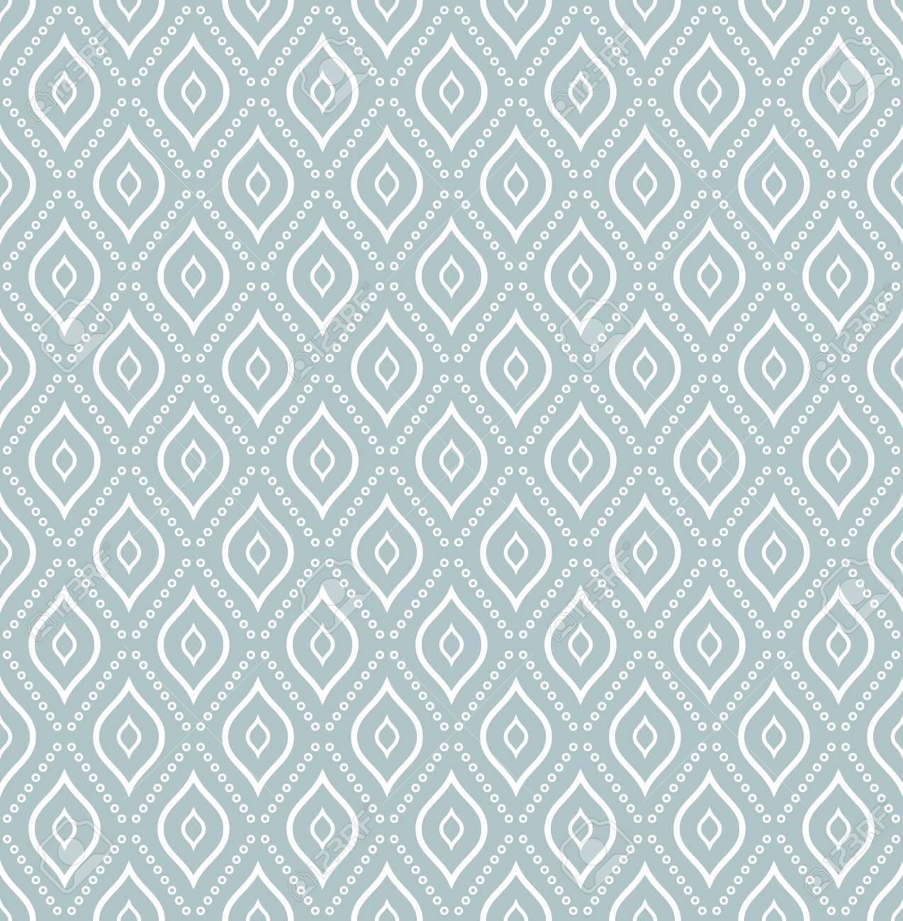 Geometric Dotted Light Blue And White Pattern Seamless Abstract