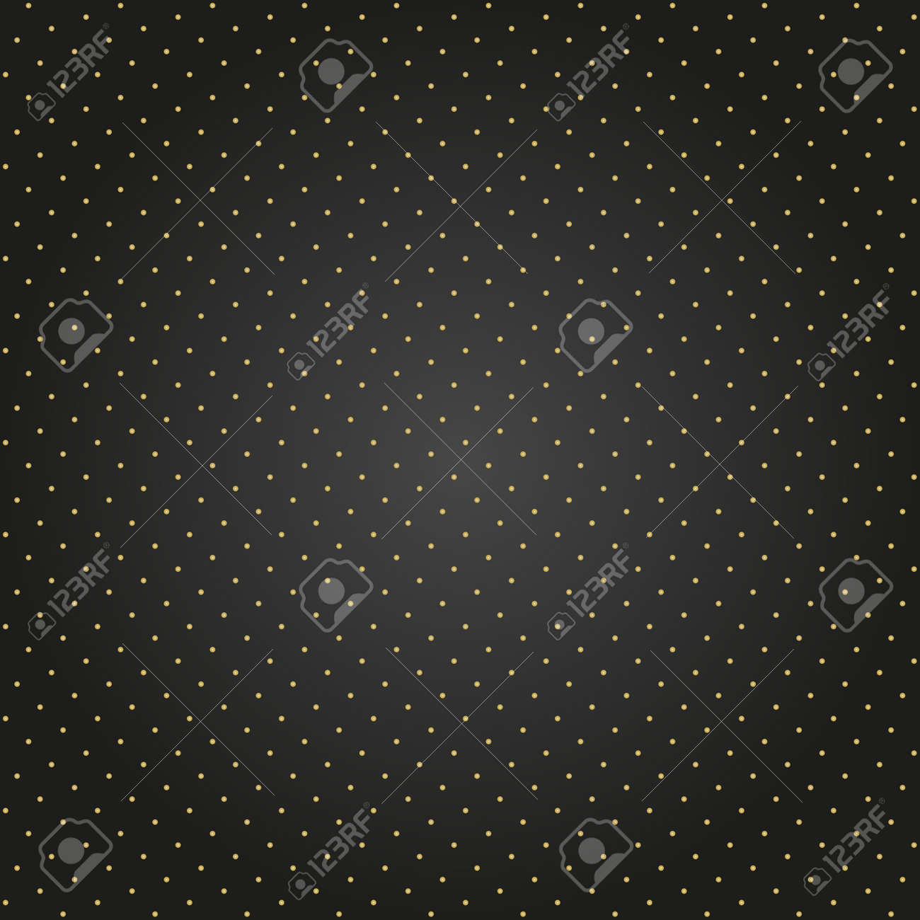 Seamless geometric vector black and golden pattern. Modern ornament with golden dotted elements. Geometric abstract pattern - 152433728